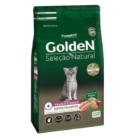 Ração Premium Especial Golden Gatos Seleção Natural Filhotes Sabor Frango e Arroz 10,1kg - PremierPet