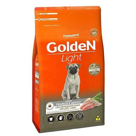 Ração Premium Especial Golden Fórmula Light Cães Adultos Raças Pequenas Sabor Frango e Arroz Mini Bits 10,1kg - PremierPet