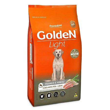 Ração Premium Especial Golden Fórmula Light Cães Adultos Raças Médias e Grandes Sabor Frango e Arroz 15kg - PremierPet
