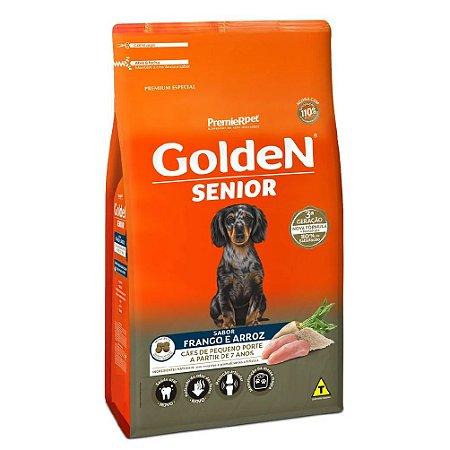 Ração Premium Especial Golden Fórmula Sênior Cães A Partir de 7 Anos Raças Pequenas Sabor Frango e Arroz Mini Bits 3kg - PremierPet