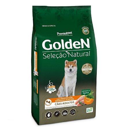Ração Premium Especial Golden Cães Seleção Natural Adultos Sabor Frango Com Abóbora e Alecrim 12kg - PremierPet