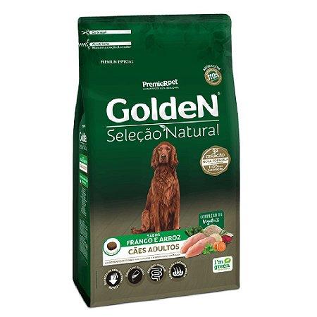 Ração Premium Especial Golden Cães Seleção Natural Adultos Sabor Frango e Arroz 15kg - PremierPet