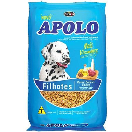 Ração Apolo Cães Filhotes Sabor Carne, Cereais e Leite 15kg
