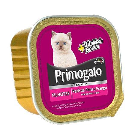 Ração Úmida Primogato Premium Patê Gatos Filhotes Sabor Peru e Frango 150g - Hercosul