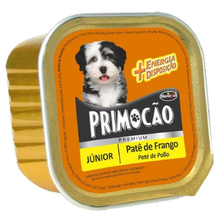 Ração Úmida Primocão Premium Patê Cães Filhotes Sabor Frango 300g - Hercosul
