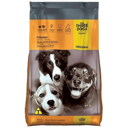 Ração Three Dogs Premium Especial Original Filhotes de Raças Médias e Grandes 15kg - Hercosul