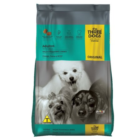 Alimento Para Cães Three Dogs Original Raças Pequenas 15kg