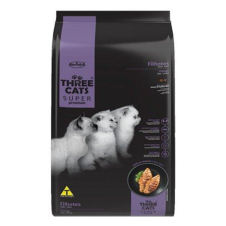Ração Three Cats Super Premium Gatos Filhotes Sabor Frango 500g - Hercosul