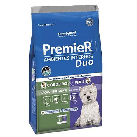 Ração Super Premium Premier Ambientes Internos Duo Cães Adultos Raças Pequenas Sabor Cordeiro e Peru 2,5kg - PremierPet