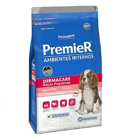 Ração Super Premium Premier Ambientes Internos Cães Adultos Dermacare Raças Pequenas Sabor Salmão 1kg - PremierPet