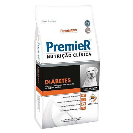 Ração Terapêutica Super Premium Premier Nutrição Clínica Cães Adultos Diabetes Raças Médias e Grandes 10,1kg - PremierPet