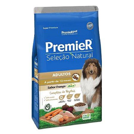 Ração Super Premium Premier Seleção Natural Cães Adultos A Partir de 12 Meses Raças Médias e Grandes Sabor Frango Korin 12kg - PremierPet