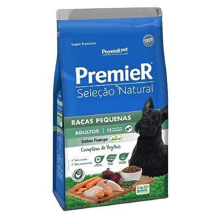Ração Super Premium Premier Seleção Natural Cães Adultos A Partir de 12 Meses Raças Pequenas Sabor Frango Korin 10,1kg - PremierPet