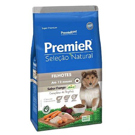 Ração Super Premium Premier Seleção Natural Cães Filhotes Até 12 Meses Sabor Frango Korin 10,1kg - PremierPet