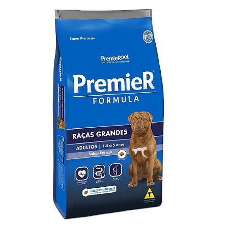 Ração Super Premium Premier Fómula Cães Adultos Raças Grandes Sabor Frango 20kg - PremierPet