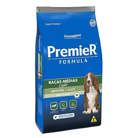 Ração Super Premium Premier Fómula Light Cães Adultos Raças Médias Sabor Frango 15kg - PremierPet