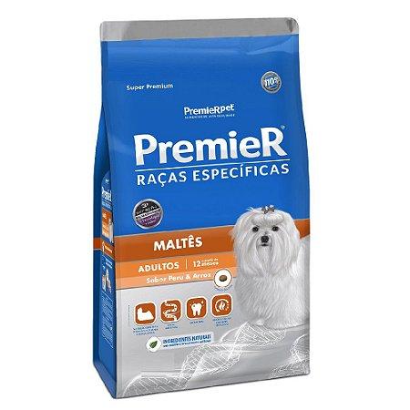 Ração Super Premium Premier Raças Específicas Maltês Adultos Sabor Peru e Arroz 2,5kg - PremierPet
