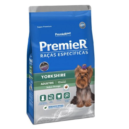 Ração Super Premium Premier Raças Específicas Yorkshires Adultos Sabor Frango 1kg - PremierPet