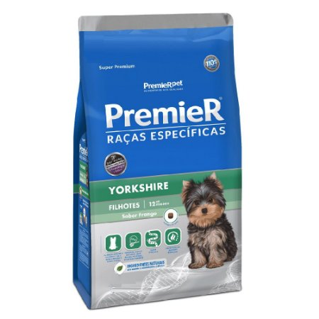 Ração Super Premium Premier Raças Específicas Yorkshires Filhotes Sabor Frango 2,5kg - PremierPet