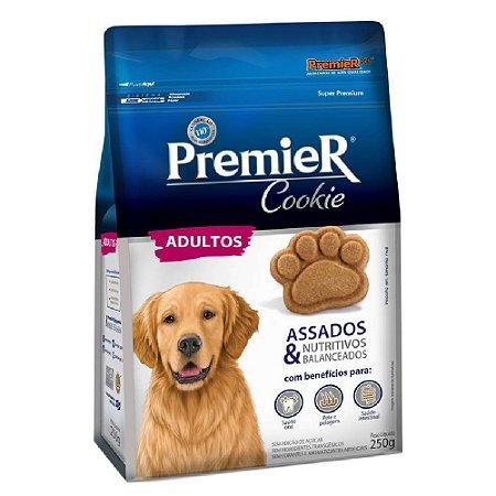 Petiscos Biscoito Premier Cookie Assados Cães Adultos 250g - Sem Trangênicos - PremierPet