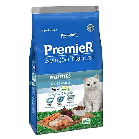 Ração Super Premium Premier Gatos Filhotes Seleção Natural Sabor Frango Korin 1,5kg - PremierPet