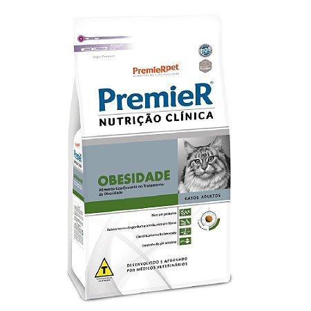 Ração Terapêutica Super Premium Premier Nutrição Clínica Gatos Adultos Obesidade 1,5kg - PremierPet