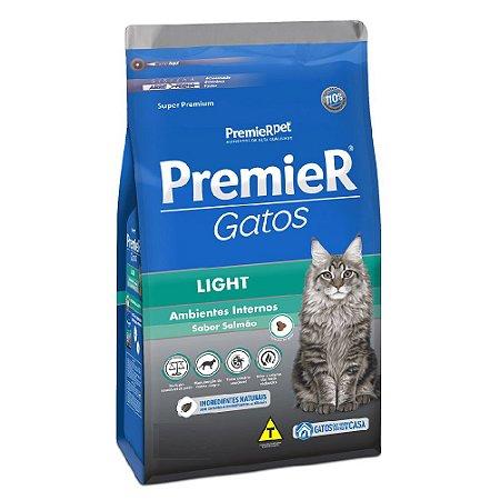 Ração Super Premium Premier Gatos Light Ambientes Internos Sabor Salmão 7,5kg - PremierPet