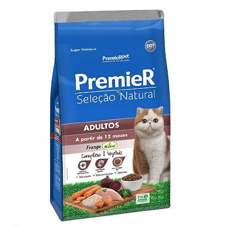 Ração Super Premium Premier Gatos Adultos Seleção Natural Sabor Frango Korin 7,5kg - PremierPet