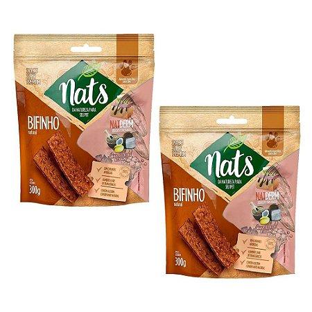 combo 2un Snack Nats Bifinho Natural NatDerm 300g