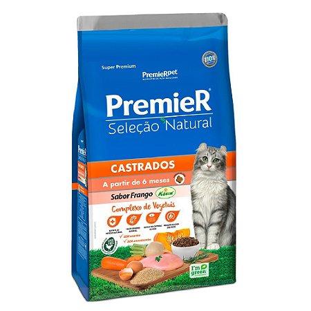 Ração Super Premium Premier Gatos Castrados Seleção Natural A Partir de 6 Meses Sabor Frango Korin 1,5kg - PremierPet