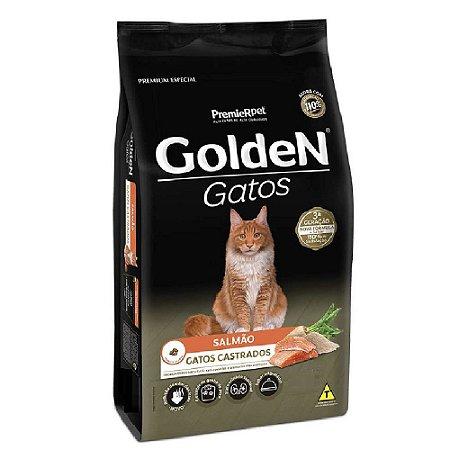 Ração Premium Especial Golden Gatos Castrados A partir de 6 Meses Sabor Salmão 6kg - PremierPet