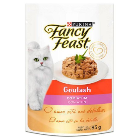 Ração Úmida Fancy Feast Sachê Gatos Adultos Goulash Sabor Atum 85g - Purina