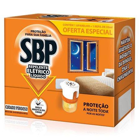 Repelente Elétrico Líquido SBP 45 Noites Aparelho + Refil