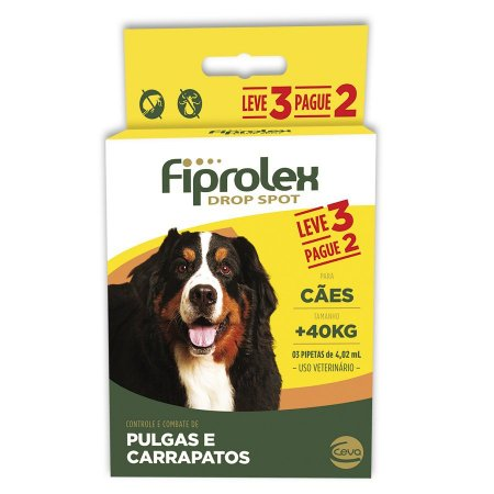 Antipulgas Ceva Fiprolex Cães Acima 40kg Leve3 Pague 2