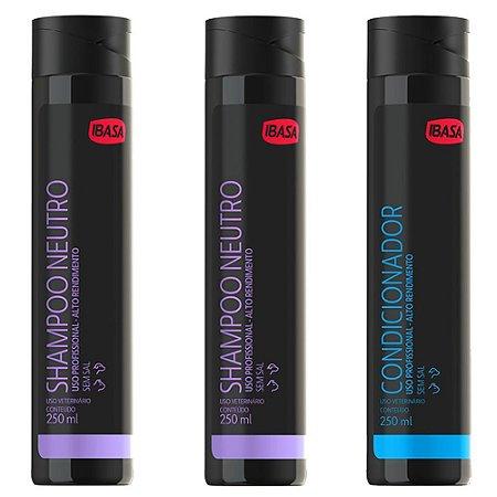 Combo Ibasa 2un Shampoo Neutro + 1un Condicionador
