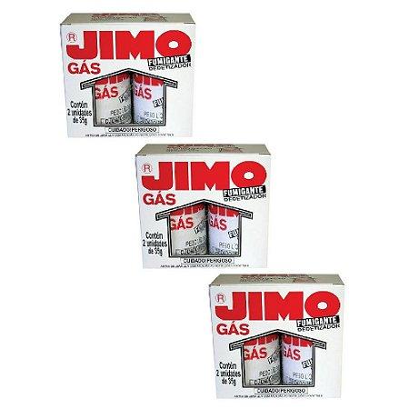 Combo 3un Jimo Gás Fumigante Dedetizador 2 Tubos 35g Cada