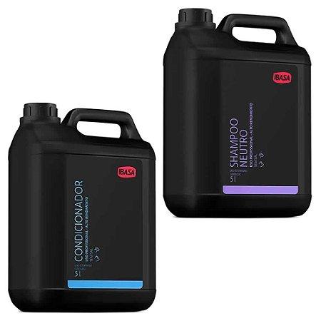 Combo Ibasa Condicionador 5l + Shampoo Neutro 5l