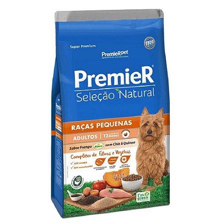 Ração Super Premium Premier Seleção Natural Cães Adultos A Partir de 12 Meses Raças Pequenas Sabor Frango Korin Com Chia e Quinoa 10,1kg - PremierPet