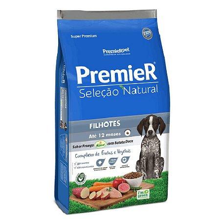 Ração Super Premium Premier Seleção Natural Cães Filhotes Até 12 Meses Sabor Frango Korin e Batata Doce 2,5kg - PremierPet