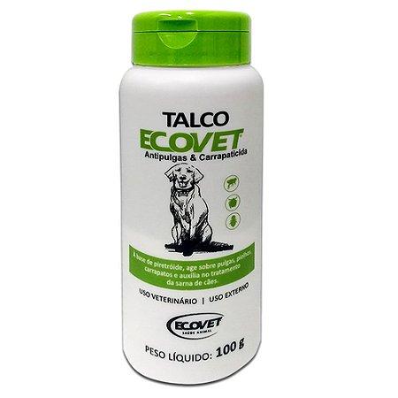 Talco Antipulgas e Perfumado Cães 100g - Ecovet