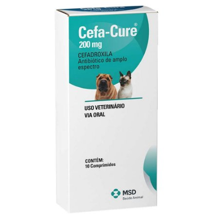 Cefa-Cure 200mg MSD 10 Comprimidos