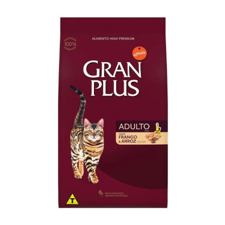 Ração Gran Plus Gatos Adultos Frango e Arroz 1kg