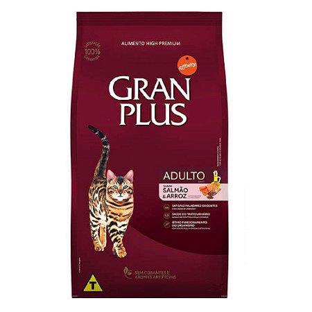 Ração Gran Plus Gatos Adultos Salmão e Arroz 1kg