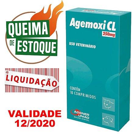 Agemoxi 250mg 10 Comprimidos Agener União - Liquidação