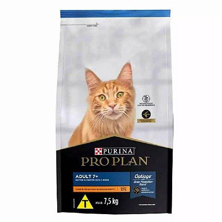 Ração Pro Plan Gatos Adultos 7+ Frango 7,5kg Purina