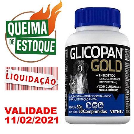 Suplemento Vitamínico Glicopan Gold 30 Comprimidos Vetnil - LIQUIDAÇÃO
