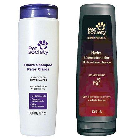 Kit Hydra Pet Society Shampoo Pelos Claros + Condicionador