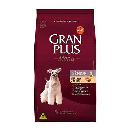 Ração Gran Plus Menu Cães Sênior Frango e Arroz 3kg