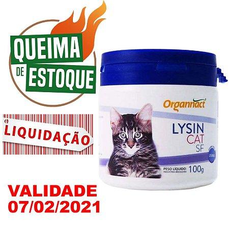 Lysin Cat SF 100g - Organnact - LIQUIDAÇÃO