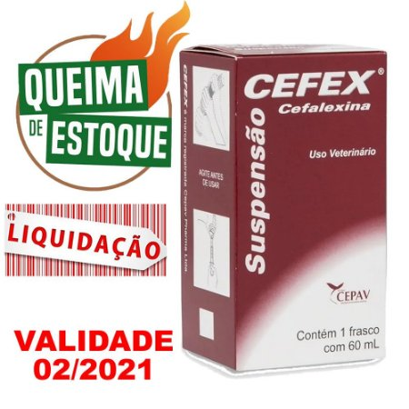 Cefex Suspensão 60ml - Cepav - Liquidação